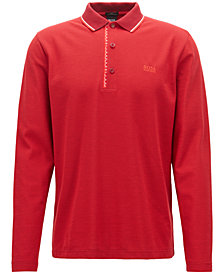 BOSS Men's Long-Sleeve Cotton Polo