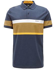 BOSS Men's Slim-Fit Colorblocked Cotton Polo