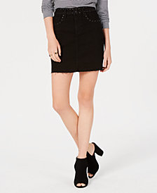 M1858 Emery Studded Denim Mini Skirt, Created for Macy's