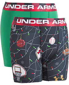 Under Armour Little & Big Boys 2-Pk. Boxerjocks