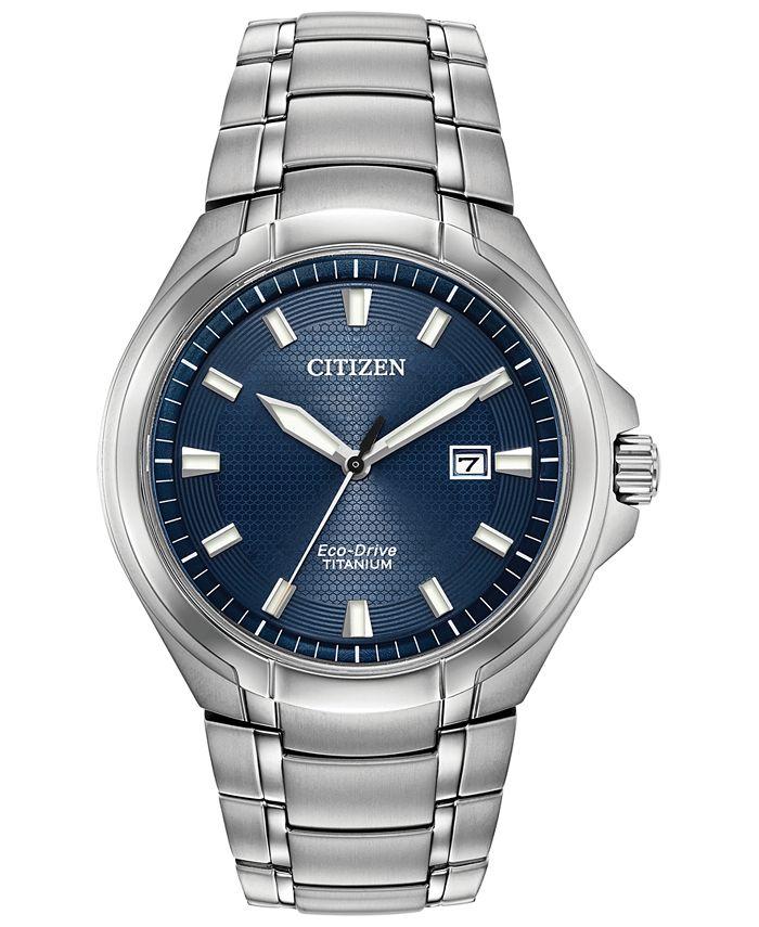 Citizen - Men's Paradigm Silver-Tone Super Titanium Bracelet Watch 43mm