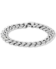 Men's Cubano Link Bracelet in Stainless Steel