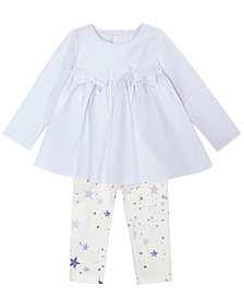 First Impressions Baby Girls 2-Pc. Bow Tunic & Star-Print Leggings Set, Created for Macy's