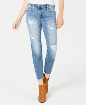 Kut From The Kloth KUT FROM THE KLOTH REESE RIPPED STRAIGHT-LEG ANKLE JEANS