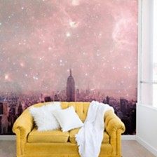 Deny Designs Bianca Green Stardust Covering New York 12'x8' Wall Mural