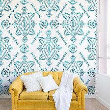Deny Designs Schatzi Brown Reeve Pattern Aqua Wall Mural