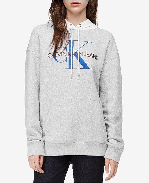 977454ead245 Calvin Klein Jeans Colorblocked Logo Hoodie   Reviews - Sweaters ...