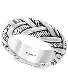 EFFY® Men's Braided Ring in Sterling Silver