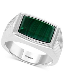 EFFY® Men's Malachite Ring in Sterling Silver