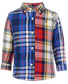 Tommy Hilfiger Baby Boys Cotton Patchwork Plaid Shirt