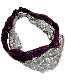 GUESS 2-Pc. Set Sequined Headwraps