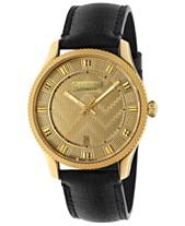 c6a823eda693 Gucci Men's Swiss Automatic Eryx Black Leather Strap Watch 40mm