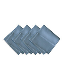 Elrene Elegance Plaid Blue Shadow Set of 4 Napkins