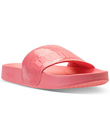 Puma Women's Leadcat Glitter Slide Sandals from Finish Line