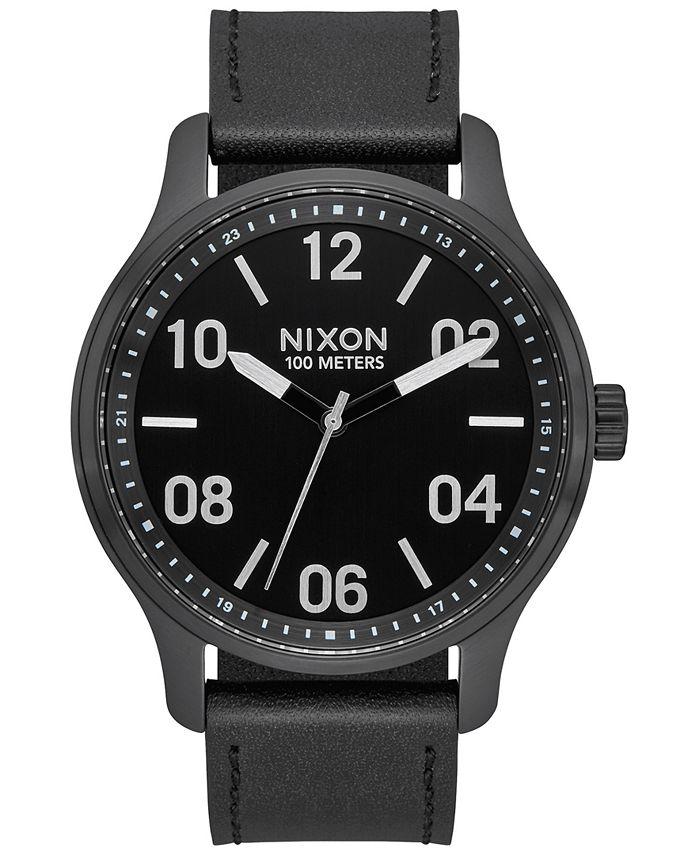 Nixon - Men's Patrol Leather Strap Watch 42mm