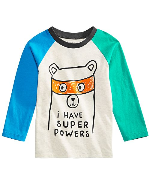 06fe7802baffa First Impressions Toddler Boys Long-Sleeve Colorblocked Cotton T-Shirt,  Created for Macy's