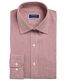 Club Room Men's Big & Tall Classic/Regular Fit Stretch Twill Puppytooth Dress Shirt, Created for Macy's