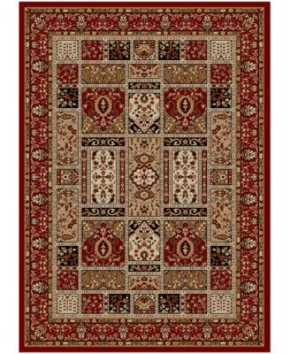 "Pesaro Panel Red 5'5"" x 7'7"" Area Rug"