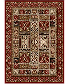 """CLOSEOUT!! KM Home Pesaro Panel Red 5'5"""" x 7'7"""" Area Rug"""