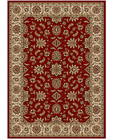 "CLOSEOUT!! KM Home Pesaro Meshed Red 5'5"" x 7'7"" Area Rug"