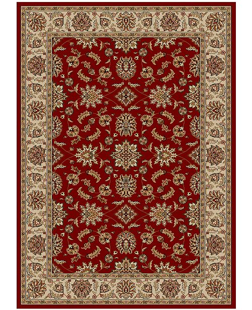 "KM Home CLOSEOUT!! Pesaro Meshed Red 5'5"" x 7'7"" Area Rug"