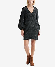 Lucky Brand Blouson-Sleeve Knit Sweater Dress