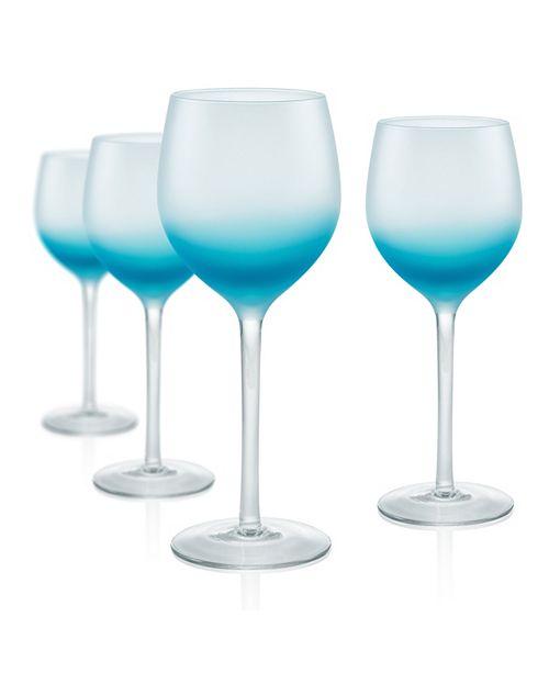 Artland Frost Shadow 17 oz. Goblets, Set of 4