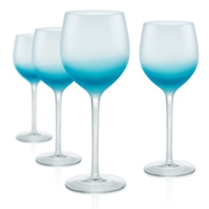 Artland Frost Shadow 17 oz. Goblets, Set of 4