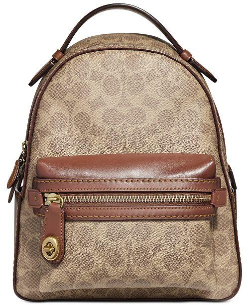 acbe70fa09c2 COACH Signature Campus Backpack 23   Reviews - Handbags ...