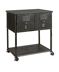 Imax Alastor 2-Drawer Rolling Cart Table