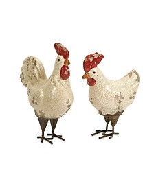 Imax Quinn Roosters - Set of 2
