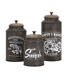 Darby Metal Canisters - Set of 3