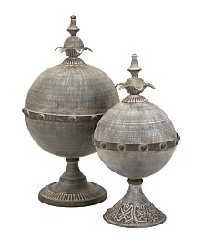 Imax Decorative Lidded Spheres - Set of 2