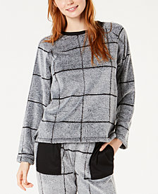 Ande Burnout Check Fleece Pajama Top