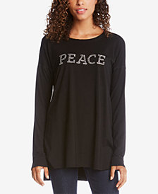 Karen Kane Embellished High-Low T-Shirt