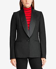 Lauren Ralph Lauren Satin-Trim Tuxedo Jacket