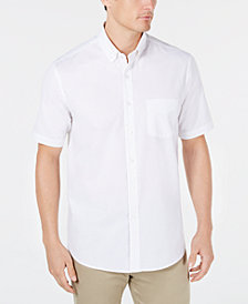 Club Room Men's Regular-Fit Stretch Oxford Shirt, Created for Macy's