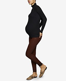 Articles Of Society Maternity Coated Skinny Jeans