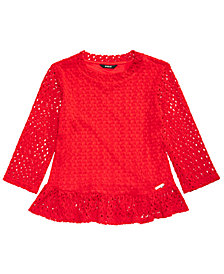 GUESS Big Girls Stretch Crochet Top