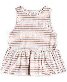 Roxy Big Girls Sleeveless Peplum Cotton T-Shirt