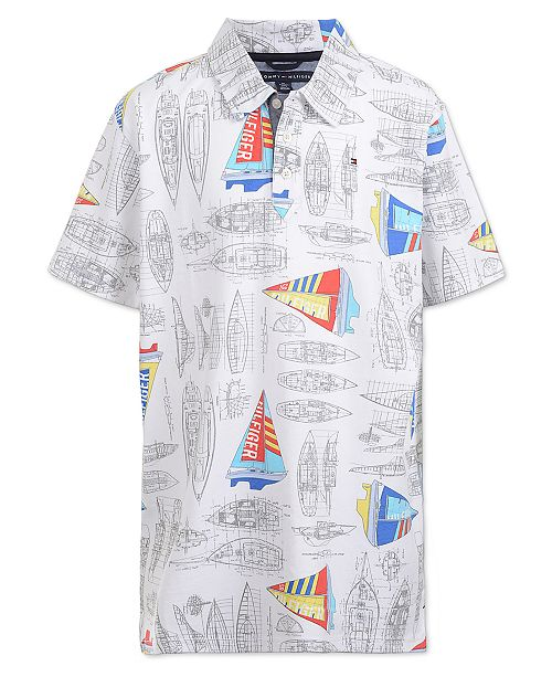 33224c5e Tommy Hilfiger Toddler Boys Sailboat Polo & Reviews - Shirts & Tees ...