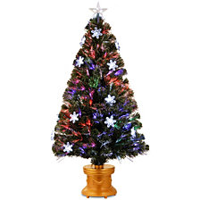 "National Tree 48"" Fiber Optic Fireworks Tree with Snowflakes"