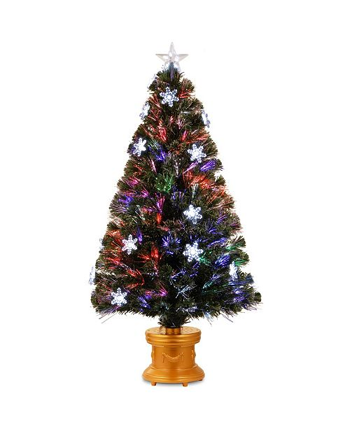 "National Tree Company National Tree 48"" Fiber Optic Fireworks Tree with Snowflakes"