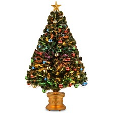 "National Tree 48"" Fiber Optic Fireworks Tree with Ball Ornaments"