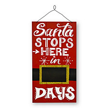 "National Tree 22"" Santa Countdown Wall Art"