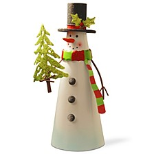 "National Tree 12"" Metal Snowman Character"