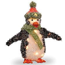 "National Tree PreLit 18"" Tinsel Penguin"