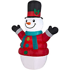 National Tree AirblownPuffy Parka Snowman