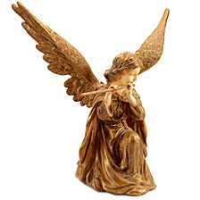 """National Tree 24"""" Angel with Flute"""