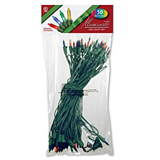 National Tree Company 50 LED Bulb Light String Set, Multicolor
